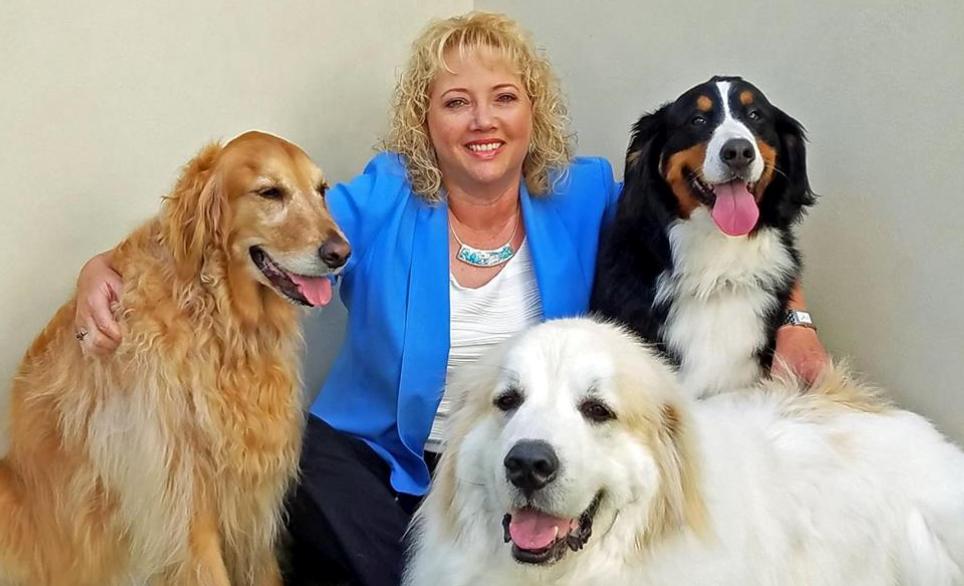 Director & Three Dogs