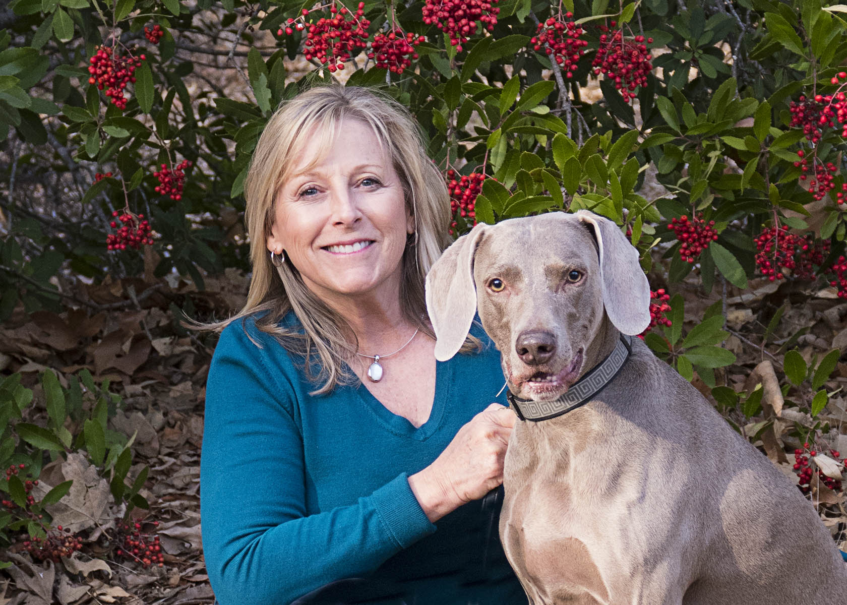 Denise Rosen and her Dog Charlie