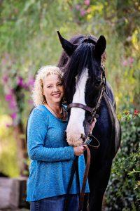 Director Marcia Mayeda and her horse Murphy